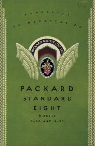 1931 Packard catalog with textured cover