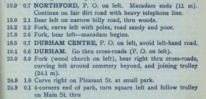 An example of typical Blue Book directions